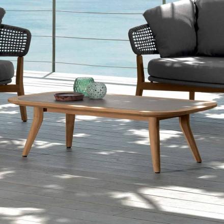 Mesa de café ao ar livre Moon by Talenti, design moderno made in Italy