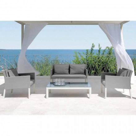 Conjunto de sala de estar ao ar livre Step by Talenti, design moderno feito na Itália