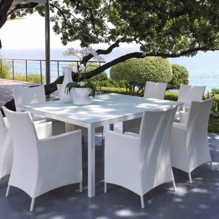 Mesa exterior Talenti Touch 155x155cm de design made in Italy
