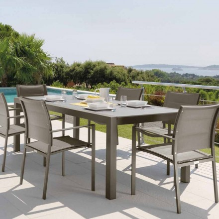Mesa extensível para exterior Touch by Talenti 152/225 cm, fabricada na Itália