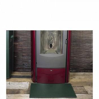 Almofada de couro para lareira / Virgilio Made in Italy