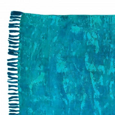 Tapete retangular de tecido étnico com borlas - Fibraù