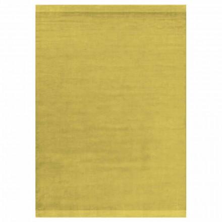 Tapete Colorido e Design Moderno em Seda e Lã com Faixa - Mistura