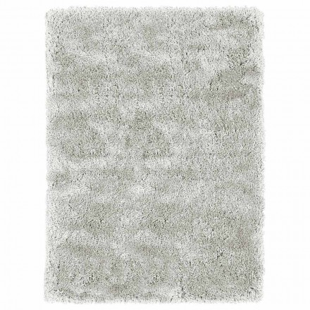 Tapete moderno de cabelos compridos de design moderno em seda e algodão coloridos - Etesia