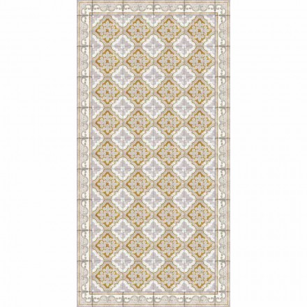 Tapete retangular de vinil de design moderno para sala de estar - Dorado