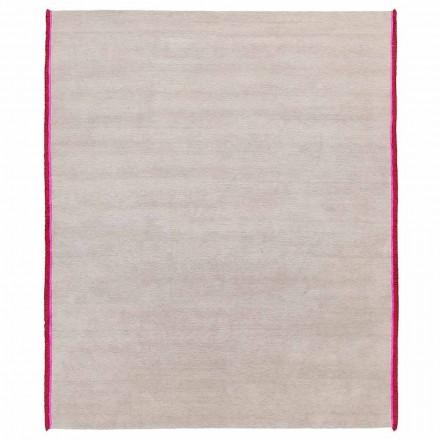 Tapete de design moderno em viscose e algodão com franjas coloridas de seda - Garbino