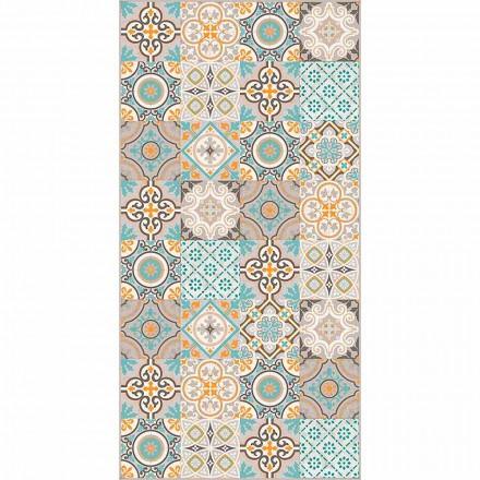 Tapete moderno retangular e colorido de vinil para sala de estar - Frisca