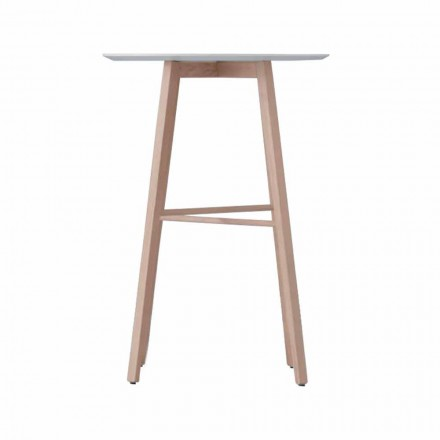 Mesa de centro alta ou baixa em madeira de carvalho e tampo branco - Langoustine