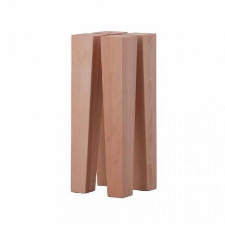 Mesa de centro baixa de design moderno em madeira de faia - Roncone