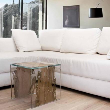 Mesa de cabeceira / criado-mudo Rialto, feito de madeira de Briccola veneziana