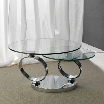 Mesa de centro de vidro Chieti com tampos redondos