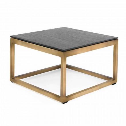 Mesa lateral externa quadrada com design 2 Dimensões 3 acabamentos - Julie