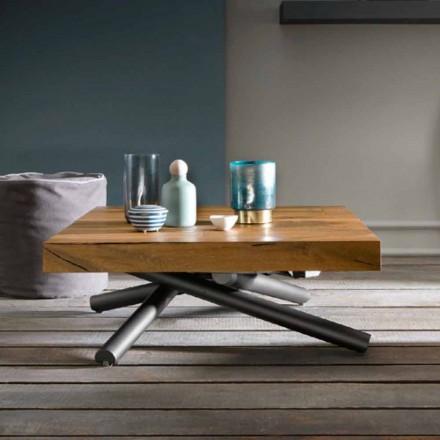 Transformando a mesa de centro do design em madeira feita na Itália - Vincenzo