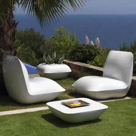 Mesa de centro ao ar livre Pillow Vondom, design moderno 67x67 cm