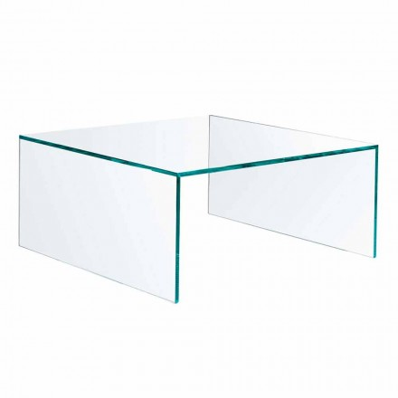 Mesa de centro retangular em vidro extraleve fabricada em Itália - Nodino