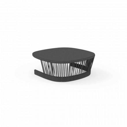 Mesa de apoio de penhasco by Talenti, em cordão e alumínio, design by Palomba