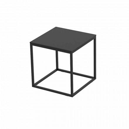 Mesa de centro externa em alumínio e laminado preto quadrado - Suave by Vondom