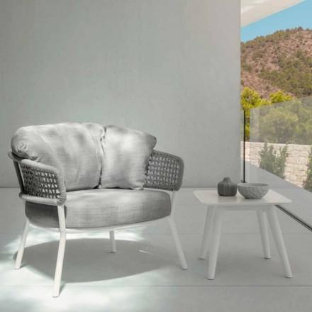 Mesa ao ar livre Moon Alu by Talenti, 40x40 com grés porcelânico