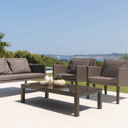Mesa de café ao ar livre Step by Talenti, coberta de textilene
