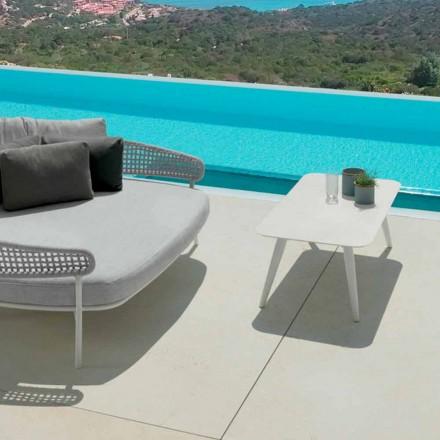 Mesa ao ar livre Lua Alu by Talenti, 110x60cm com grés porcelânico