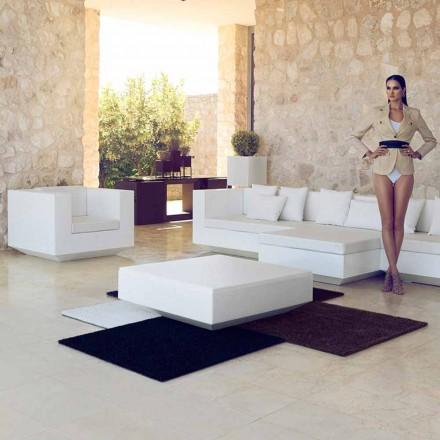 Mesa de centro quadrada de jardim Vela Vondom, design moderno em polietileno