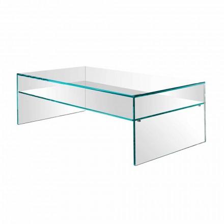 Mesa de centro Bridge em vidro extra-claro Fabricado na Itália - Tifrana