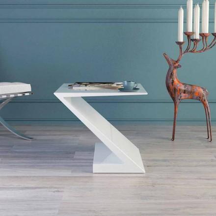 Made in Italy mesa de café branco, design moderno, Zeta