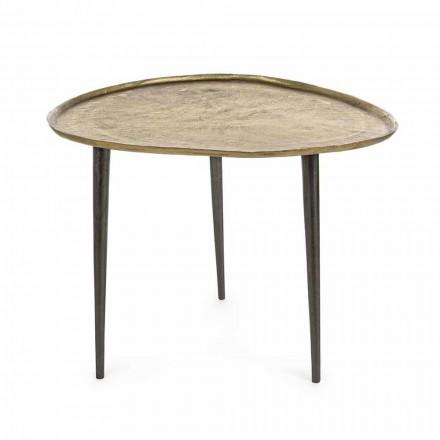 Mesa de centro Homemotion Design com tampo de alumínio - Yamila