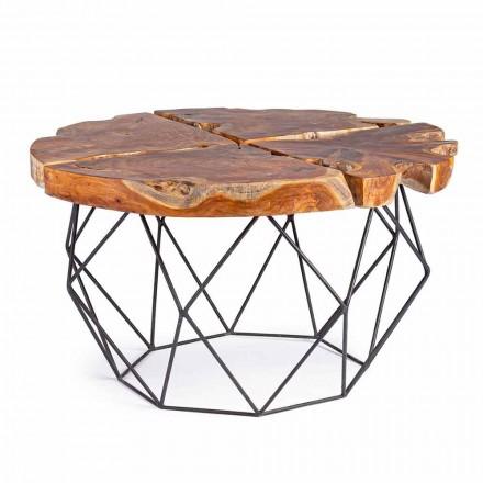 Mesa de centro Homemotion Design com tampo de teca - Grillo