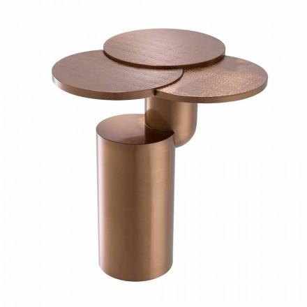 Mesa de centro de design em aço cobre escovado - Olbia