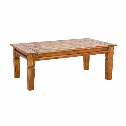 Mesa de centro em madeira maciça de acácia Homemotion Classic Design - Remo
