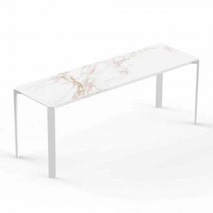 Mesa de centro moderna interna ou externa em alumínio - Tablet by Vondom