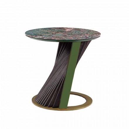 Mesa de centro de luxo redonda em Gres e Ash Made in Italy - Bering