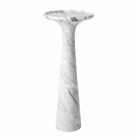 Mesa de centro redonda design em mármore branco de Carrara - Udine