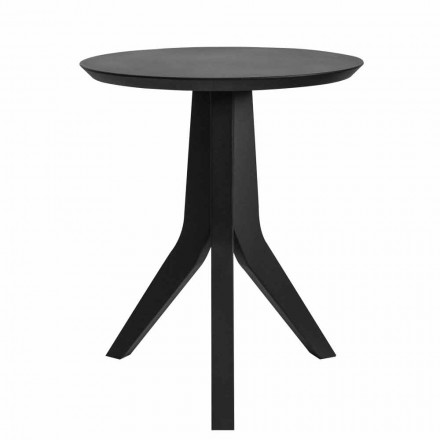 Mesa de centro de madeira lacada preta com design redondo moderno - Sperone