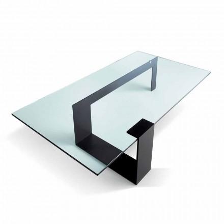 Mesa de centro de vidro extraleve de design moderno fabricada na Itália - Scoby