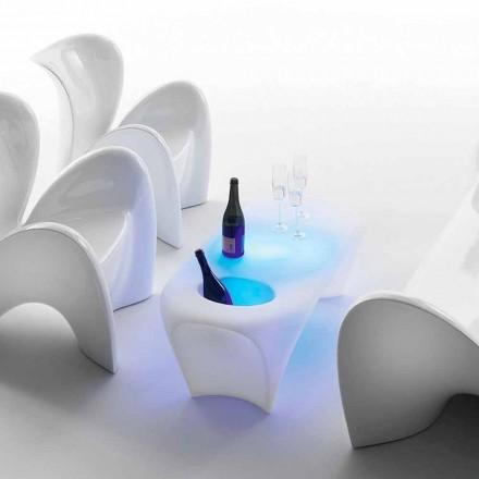 Mesa de centro brilhante com garrafa de vinho espumante, design externo ou interno - Lily by Myyour