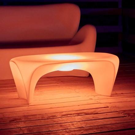 Mesa de centro luminosa RGB para design externo ou interno em plástico - Lily by Myyour