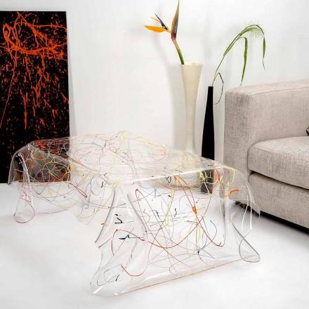 Mesa moderna feita de plexiglass multicolorido feito na Itália, Ásia
