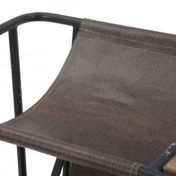 Banca de jornais moderna em ferro e couro sintético - Merica