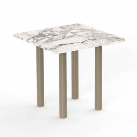 Mesa de centro quadrada de alumínio e Gres para exterior - Panamá por Talenti