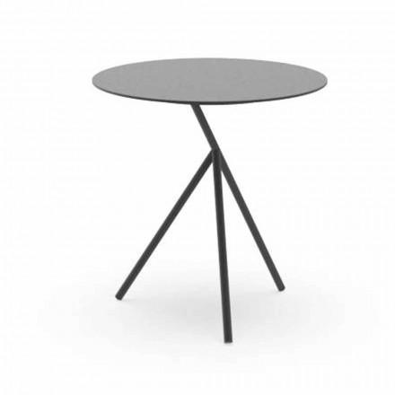 Mesa de centro redonda para jardim em alumínio branco ou carvão - Sofy by Talenti