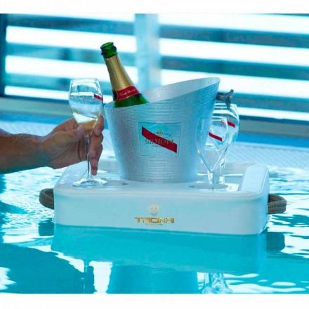 Bandeja de piscina flutuante de couro sintético feita na Itália por Trona
