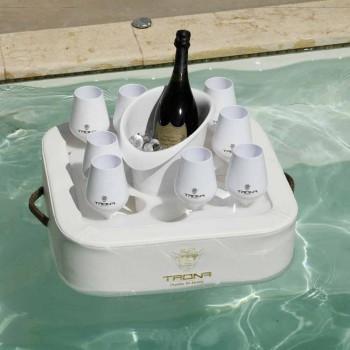 Bandeja de piscina flutuante design moderno Trona, fabricada na Itália