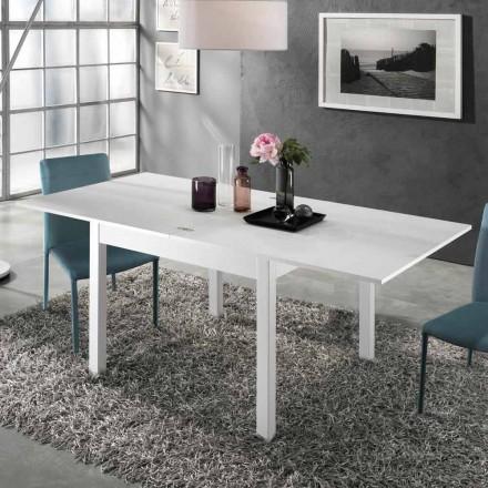Mesa extensível para 2 m de 10 assentos de design moderno em madeira - Tuttetto