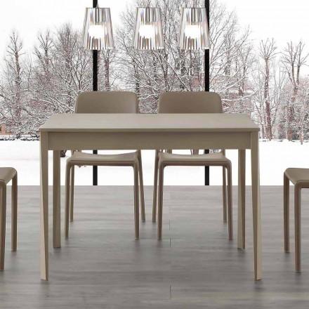 Mesa extensível de design moderno com pés em madeira maciça Empoli