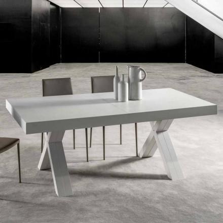 Mesa extensível com tampo em madeira laminada - Atessa