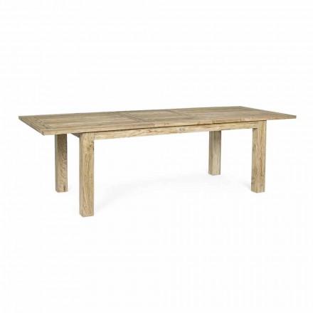 Mesa de jardim extensível até 260 cm em madeira, 8 lugares Homemotion - Gismondo