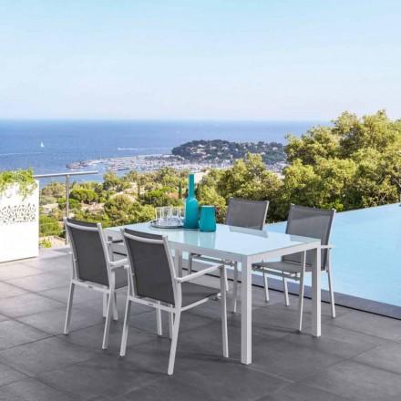 Mesa de jantar extensível para exterior Maiorca by Talenti, design moderno