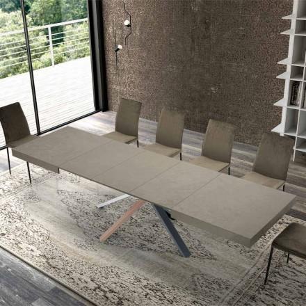 Mesa de Jantar Extensível em Madeira de Design Moderno até 3,1 m - Argentario